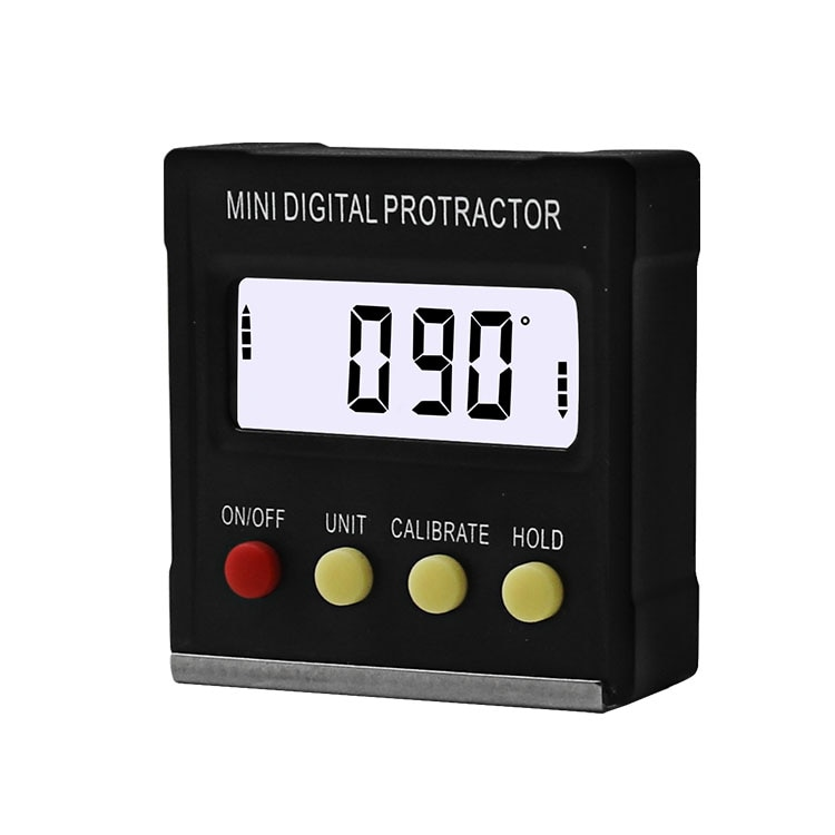 360Degree Mini Digital Protractor Inclinometer Electronic Level Box Magnetic Base Measuring Tools
