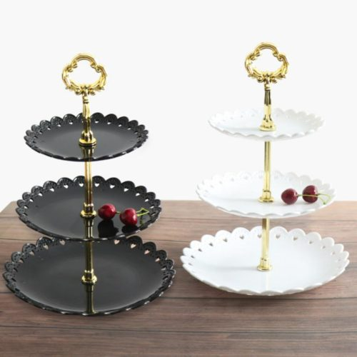 Three-Layer Dessert Tier Stand