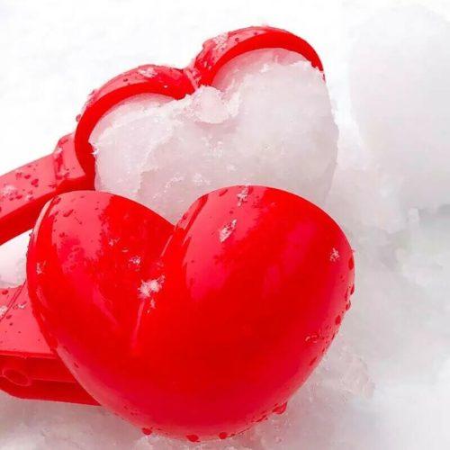 Plastic Heart Snowball Maker Mold