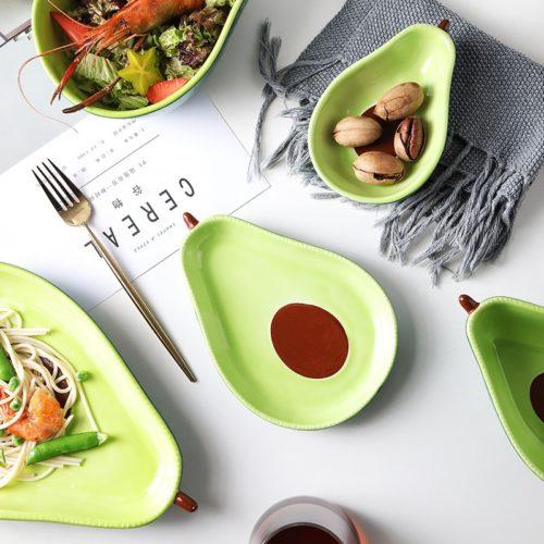 Ceramic Avocado Plate Eco-Friendly Dinnerware
