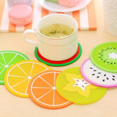 Silicone Mini Fruit Coasters (7pcs)