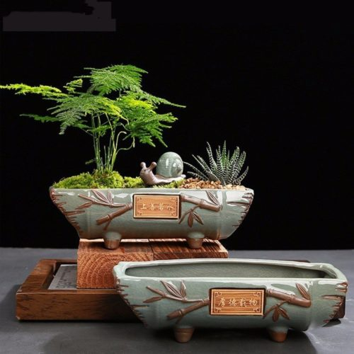 Oriental Style Ceramic Bonsai Pot