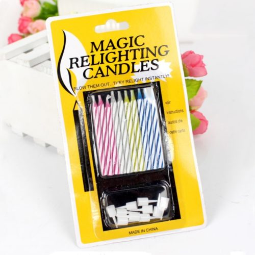 Magic Relighting Candles Cake Decoration