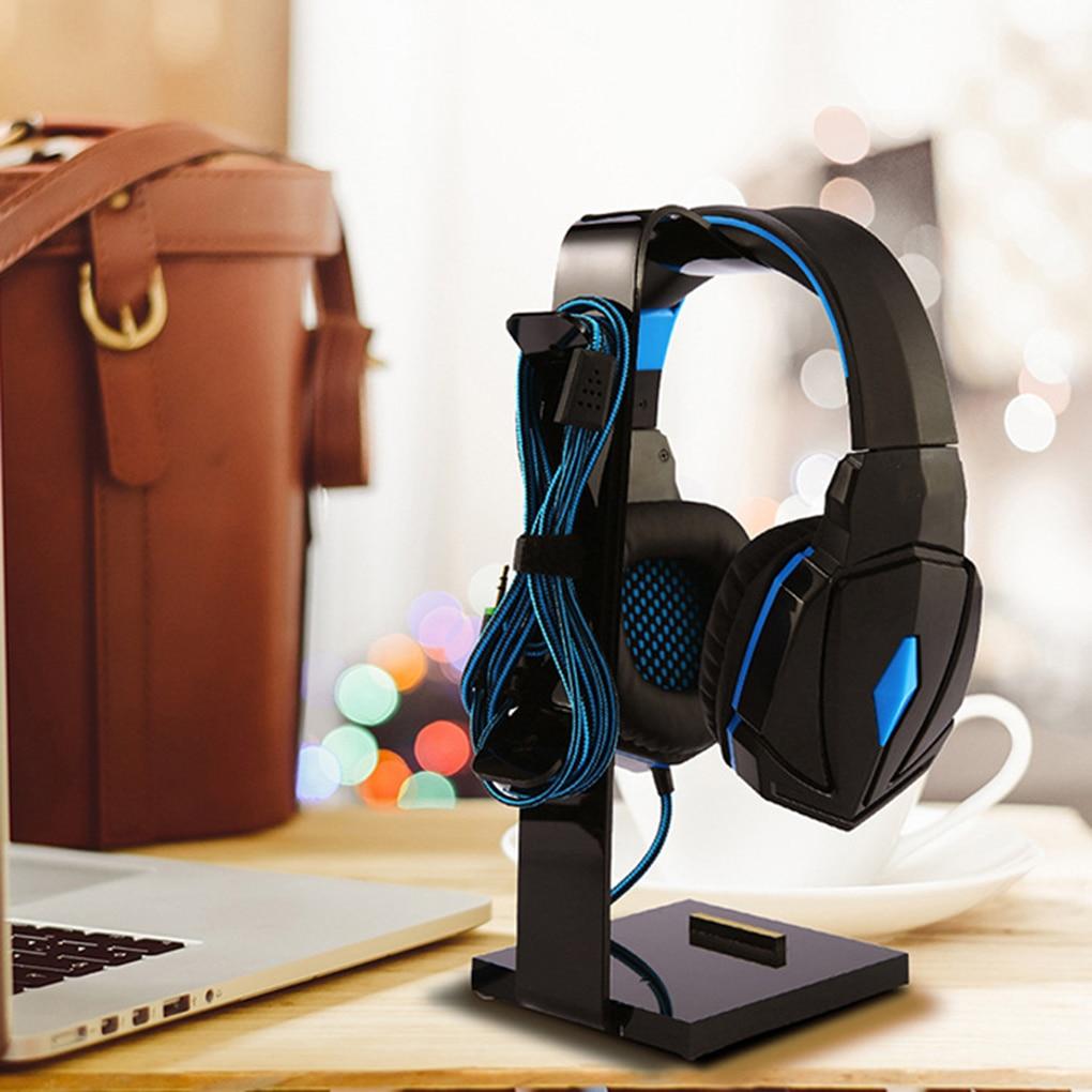 Universal Headphone Stand Acrylic Headset Hanger Gaming Earphone Holder Display Bracket Rack