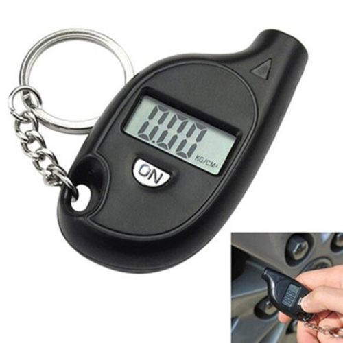Digital Tire Gauge Keychain Device