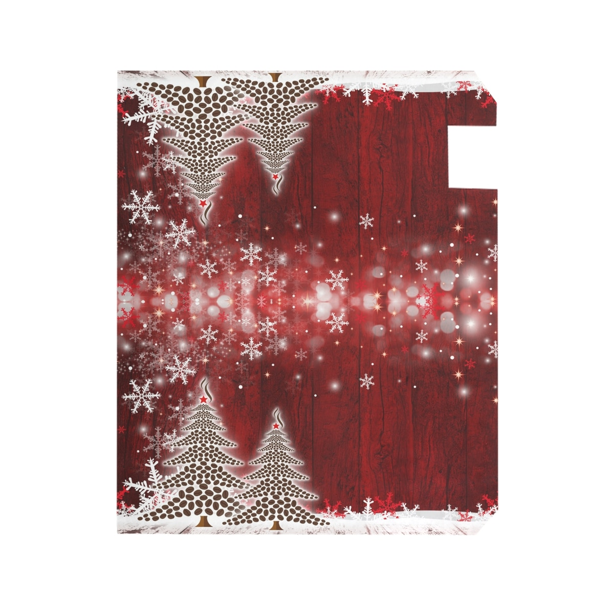 Christmas Tree Winter Snowflake Pine Mailbox Covers Standard Size White Snowflake Magnetic Mail Wraps Cover Letter Post Box