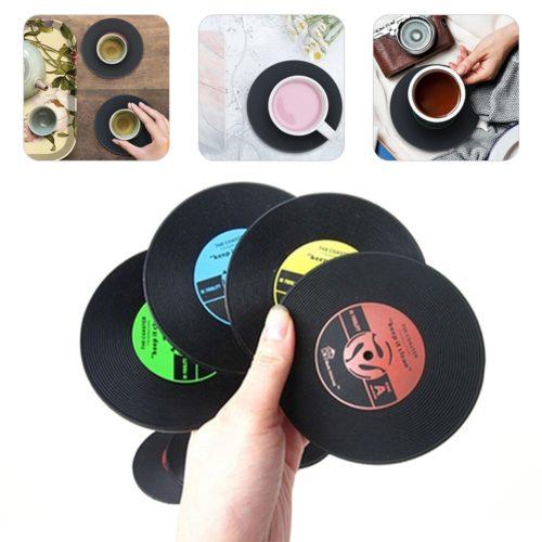 Non-Slip Vinyl Record Coaster