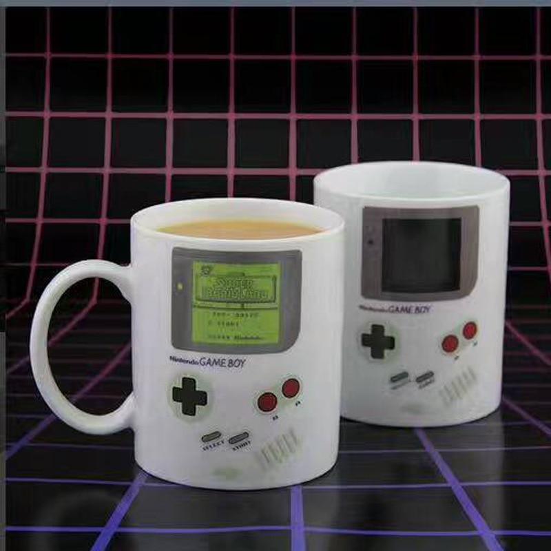 Funny Heat Sensitive Game Mugs,Ceramic Boy Mug Home Office White Porcelain Milk Beer Coffee Mug Color Changing Drinkware
