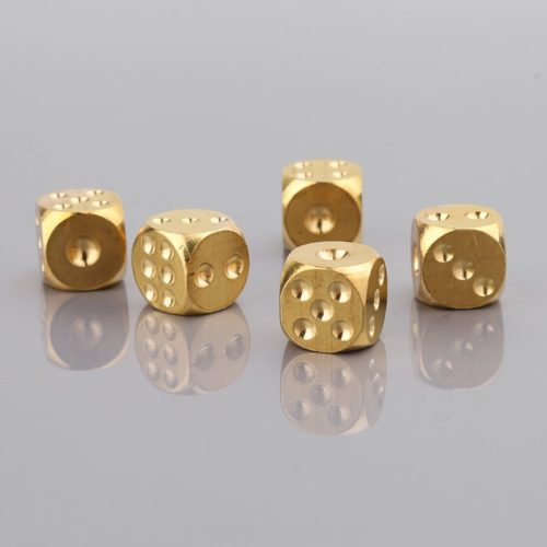 Solid Brass Steel Dice