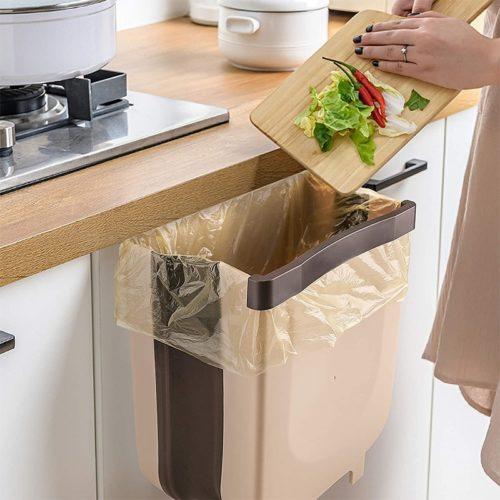 Folding Waste Bin Hanging Trash Can