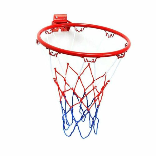 Basketball Rim Wall Mounted Hoop with Net