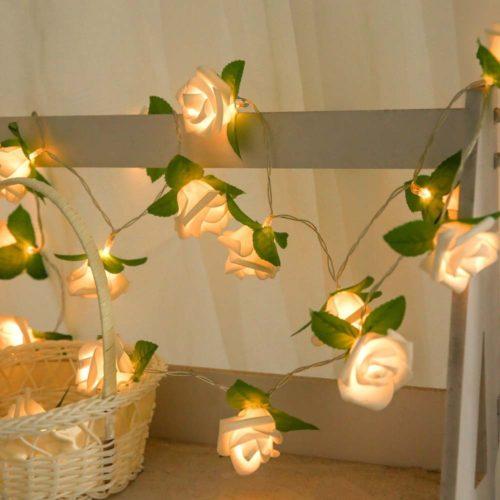 Battery-Powered Rose String Light