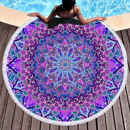 Microfiber Round Boho Beach Towel