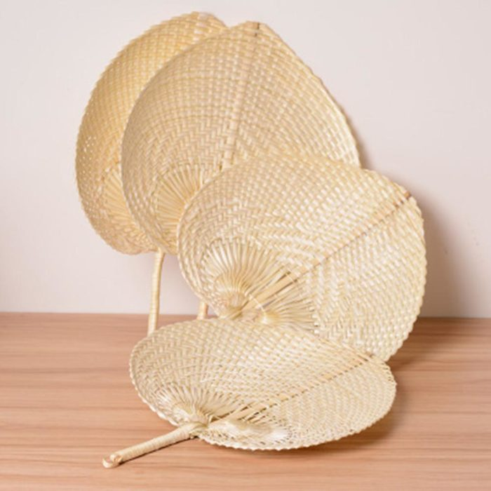 Natural Bamboo Woven Straw Fan