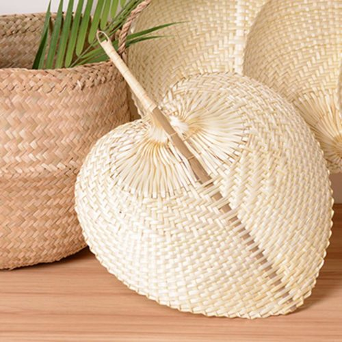 Natural Bamboo Woven Straw Fan