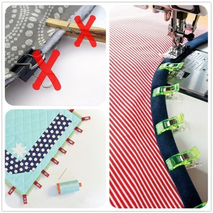 Mini Clear Quilt Binding Clips (20pcs)