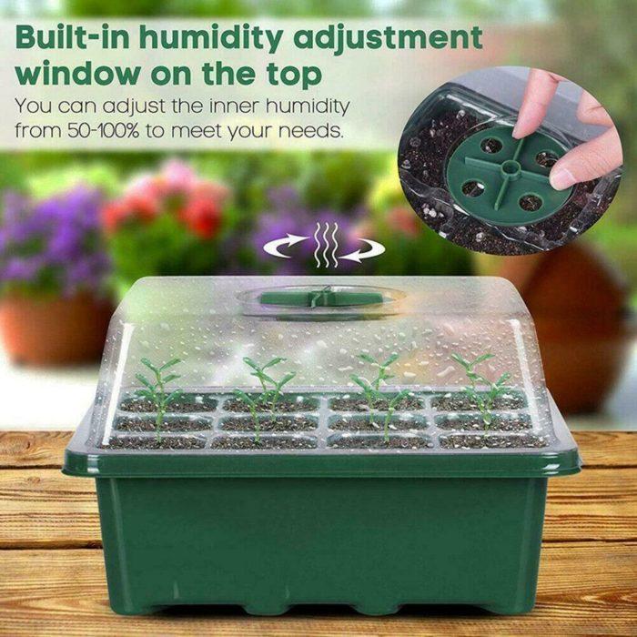 12-Grid Propagation Box Seedling Tray
