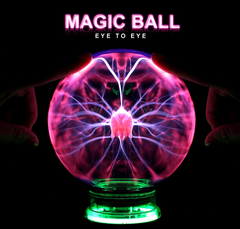 Novelty Magic Plasma Ball Light 3/4/5/6 Inch Night Light Christmas Kids Gift Glass Plasma Lamp Party Decor Table Lights