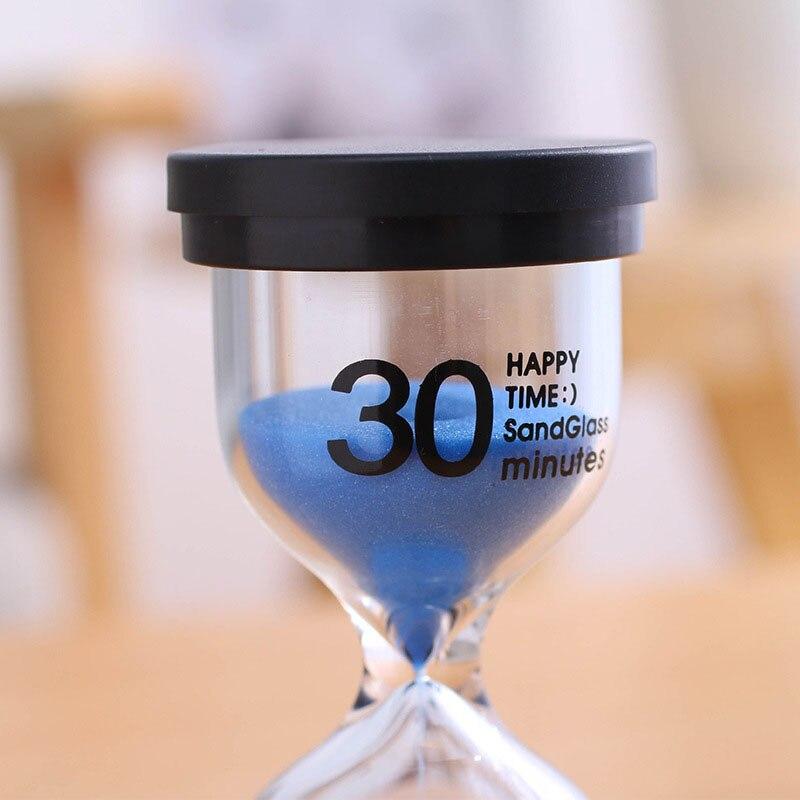 Desktop Sand Clock Timer 10 Minutes / 15 Minutes / 30 Minutes Children's Brushing Striking Hourglass Timer Home Decorations