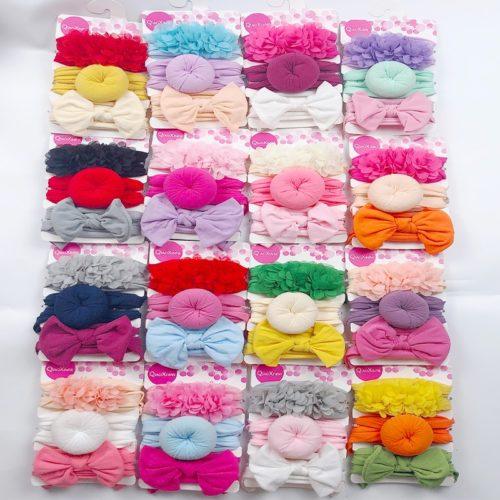 Elastic Baby Headband Set (3 Pcs)