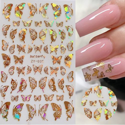 Holographic Butterfly Stickers for Nails