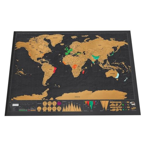 Scratch Travel Map Wall Decoration