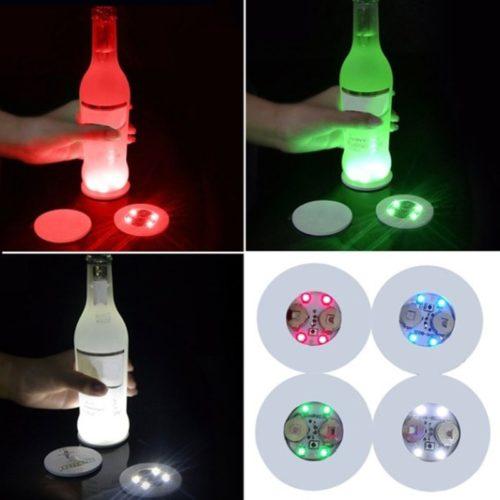 Waterproof Self-Adhesive LED Coaster