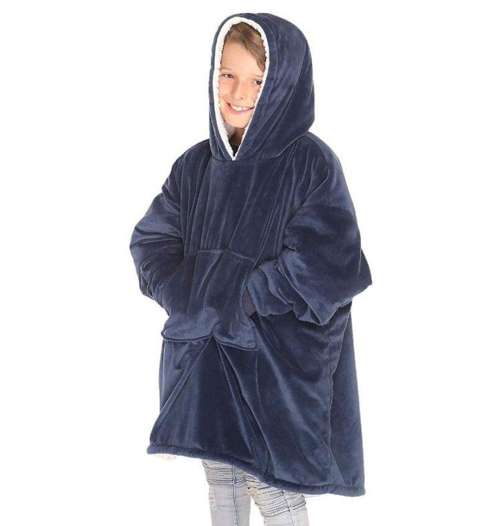 Coral Fleece Kids Wearable Blanket