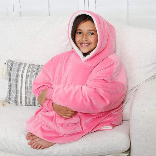 Coral Fleece Kids Wearable Blanket