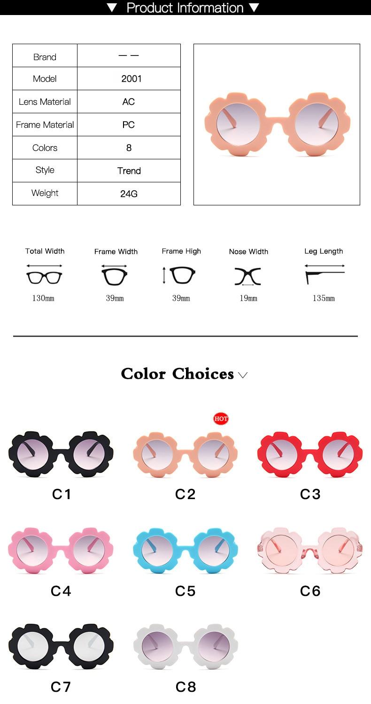 WarBlade New Kids Sunglasses Children Round Flower Sun glasses Girls Boys Baby Sport Shades Glasses UV400 Eyewear Oculos De Sol