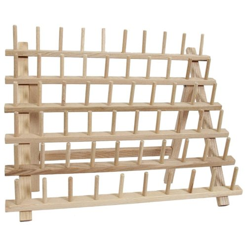 60-Spool Wooden Thread Rack