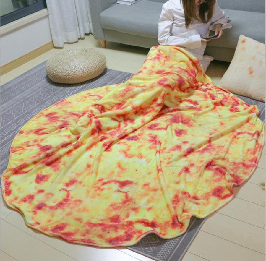 WOSTAR Soft Warm Flannel Burrito Blankets 280Gsm Round Shape throw blankets Coral Fleece Tortilla Nap Wrap travel egg Blankets