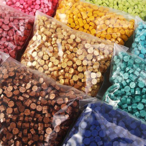 Octagon Sealing Wax Beads (100 pcs)