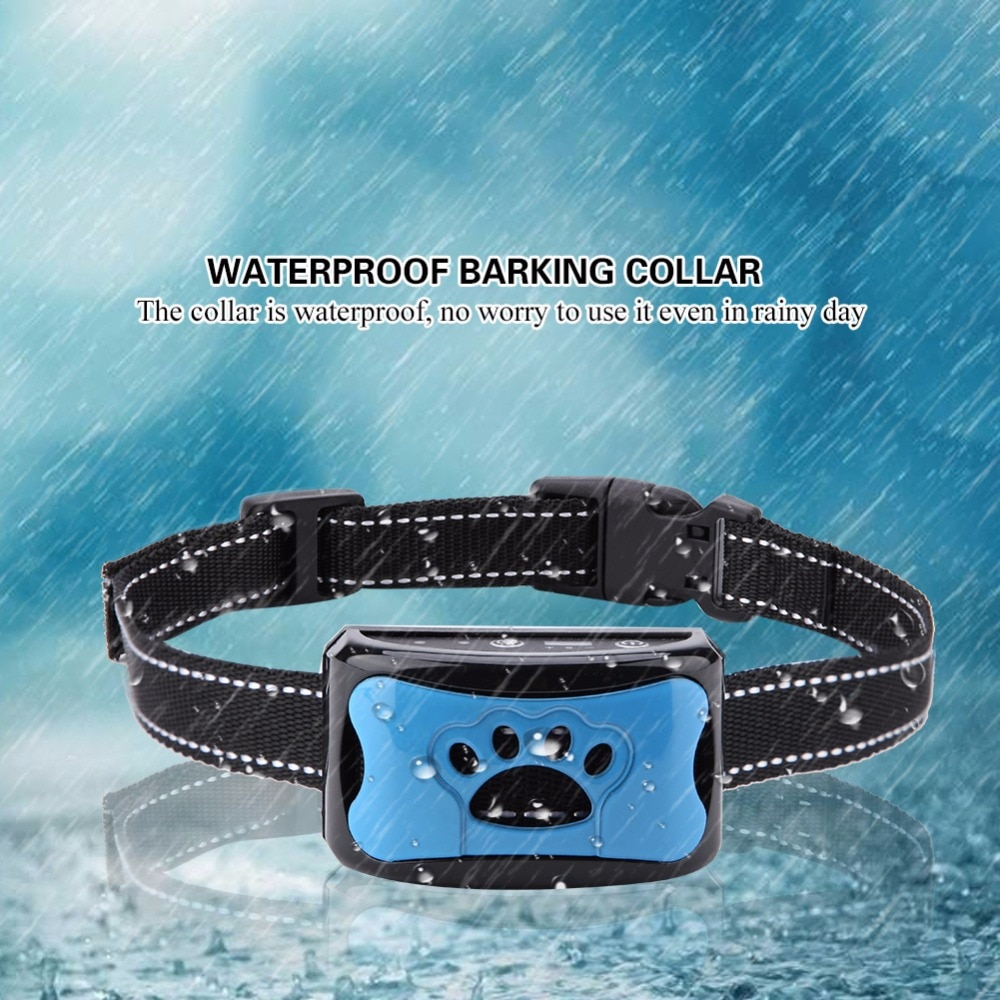 Pet Dog Anti Barking Device USB Electric Ultrasonic Dogs Training Collar Dog Stop Barking Vibration Anti Bark Collar Dropship