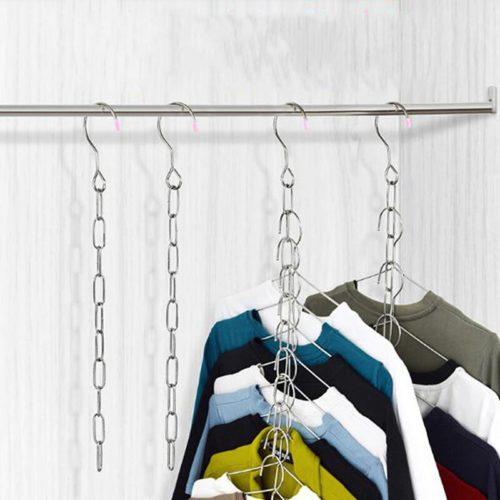 Stainless Hanger Chain Closet Organizer