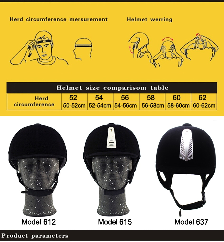 LOCLE Equestrian Horse Riding Helmet Breathable Durable Safety Half Cover Horse Rider Helmets For Men Women Children 52-62cm