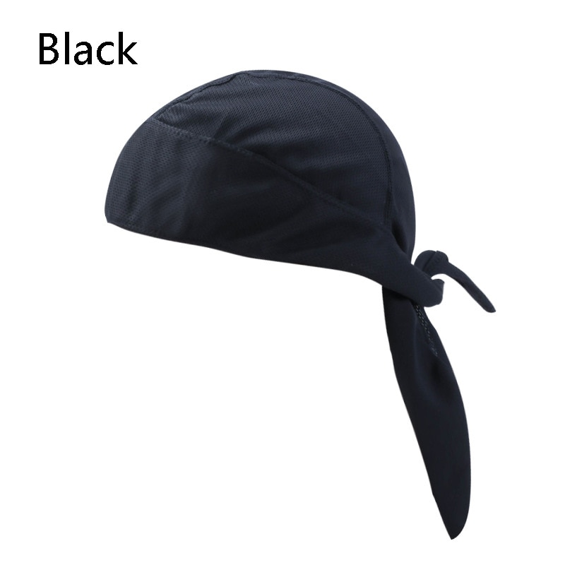 Men Women Quick Dry Pirate Cap Outdoor Sport Bandanas Pure Color Motor Head Scarf Ciclismo Balaclava Bicycle Bike Headwear