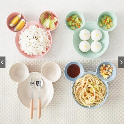 Mickey Mouse Plate Cute Tableware