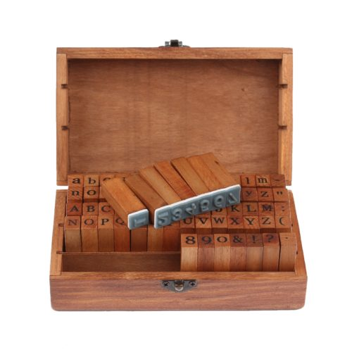 Wood Letter Stamps Set (70 Pcs)