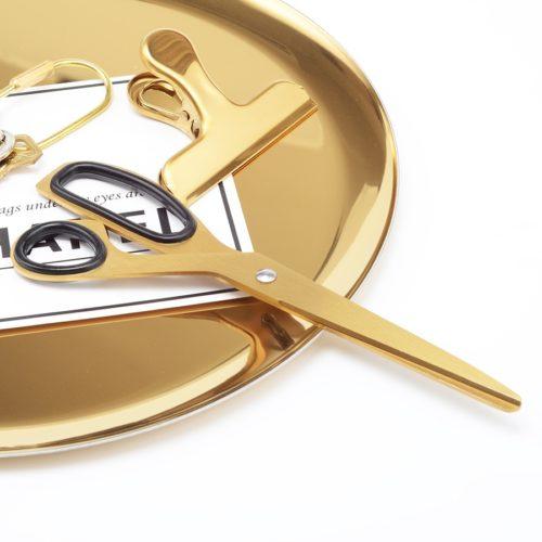 Minimalist Asymmetric Brass Scissors