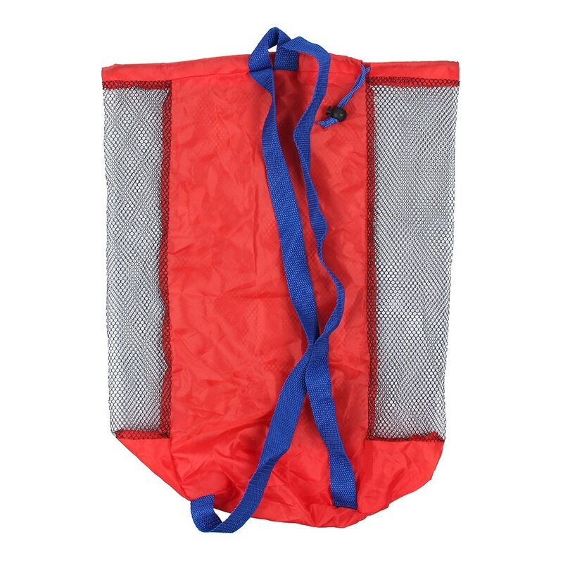 Portable Beach Bag Foldable Mesh Swimming Bag For Children Beach Toy Baskets Storage Bag Kids Outdoor Swimming Waterproof Bags