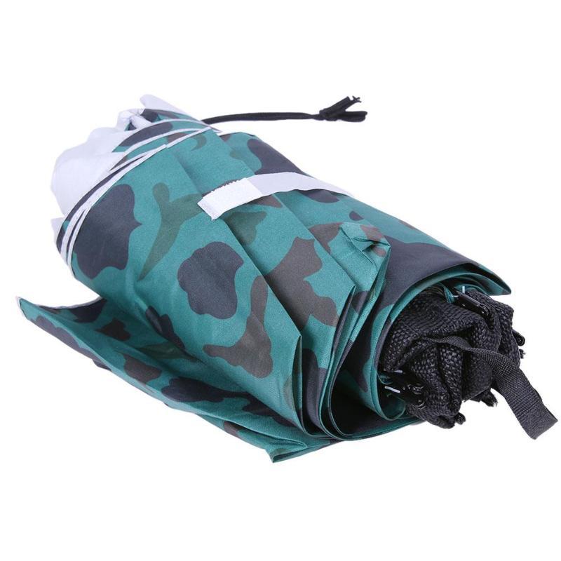 Useful 95CM Large Head Umbrella Anti-UV Anti-Rain Outdoor Travel Fishing Umbrella Hat Portable Three-Folding Umbrella Men Women
