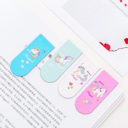 Unicorn Design Magnetic Page Markers (4Pcs.)