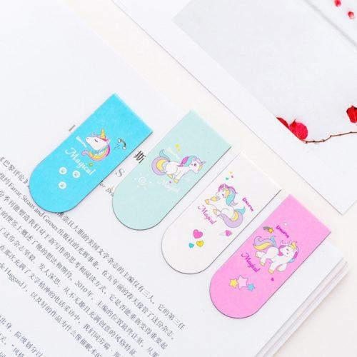 Unicorn Design Magnetic Page Markers (4Pcs.)