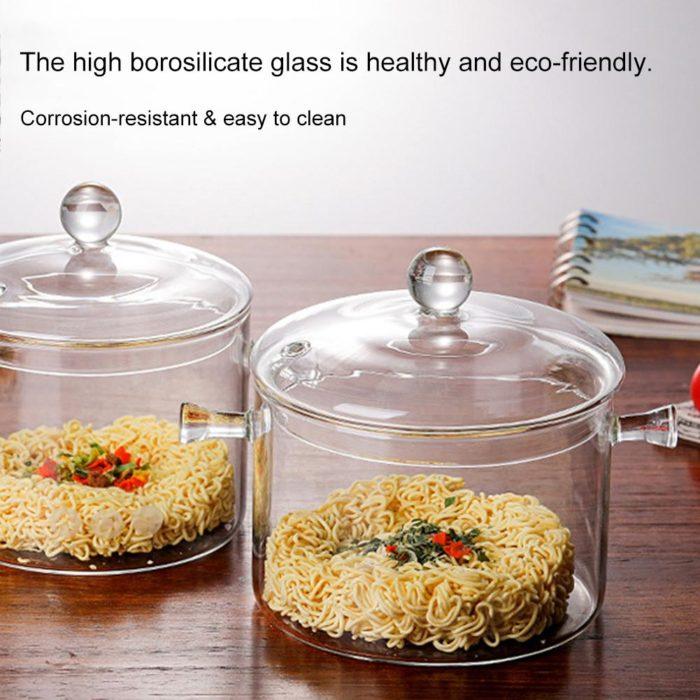 1300ml High Borosilicate Clear Glass Pot