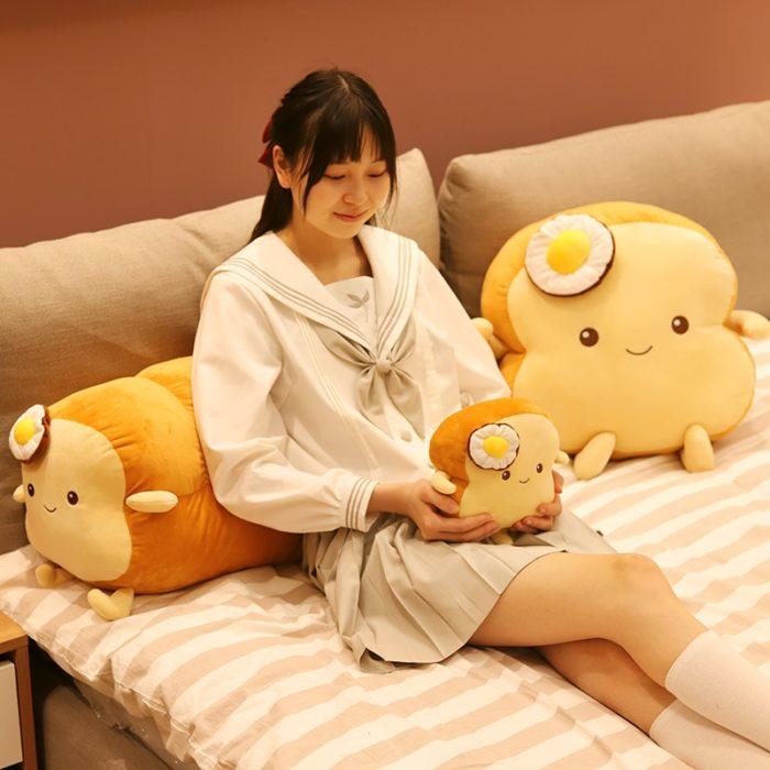 Plush Toast Pillow Soft Toy