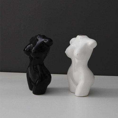 Ceramic Nude Art Female Torso Vase