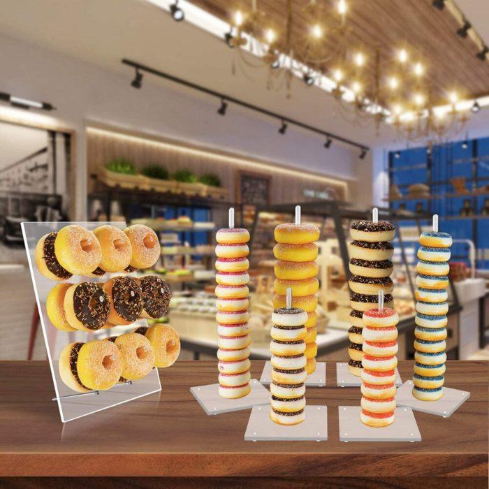 Transparent 9-Pillar Acrylic Donut Wall