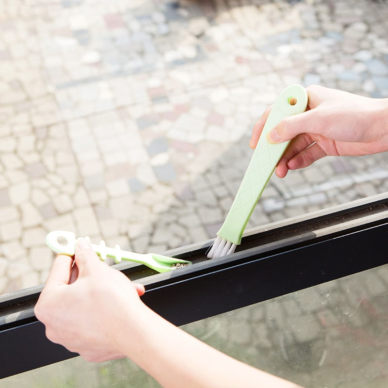 Arrivals Multipurpose Window Door Keyboard Cleaning Brush Cleaner+Dustpan 2 In 1 Tool Black Blue Color Window Brush