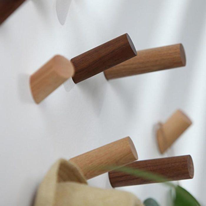 Wood Wall Hook Natural Hanger and Decor